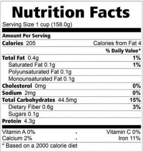 kandungan nutrisi nasi