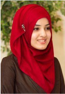 wanita menggunakan jilbab Terlihat cantik
