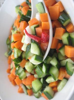 acar timun dan wortel